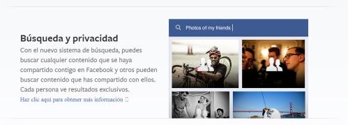 privacidad buscador facebook