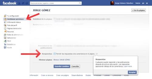activacion respuestas comentarios facebook