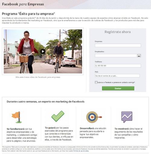 programa exito empresa facebook