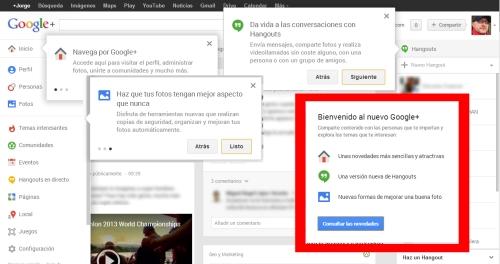 Novedades en Google+