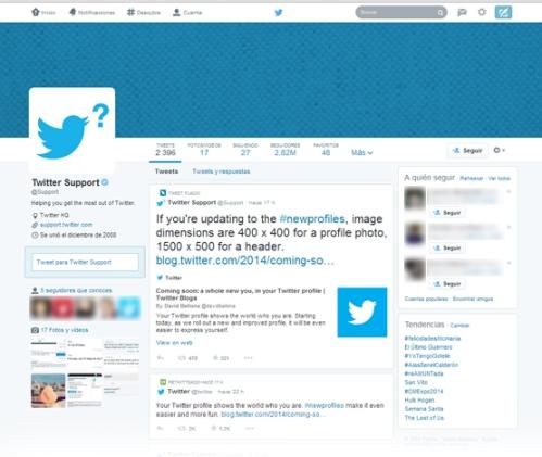 twitter new profiles nuevos perfiles