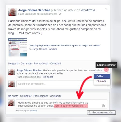 edicion comentarios facebook