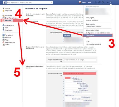 eliminar evento paso 2 facebook @socialmediados